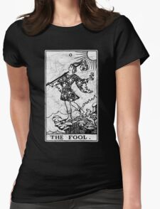 The Fool Tarot Card - Major Arcana - fortune telling - occult Womens Fitted T-Shirt