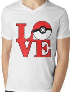 Poke-Love Mens V-Neck T-Shirt