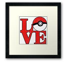 Poke-Love Framed Print