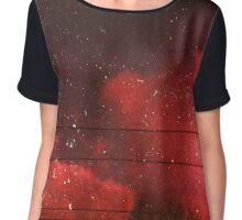 red scale clouds Chiffon Top