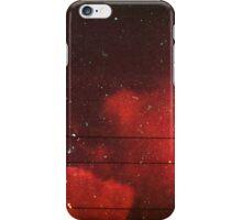 red scale clouds iPhone Case/Skin