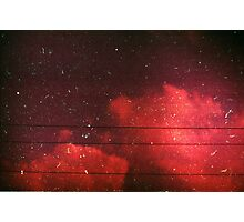 red scale clouds Photographic Print