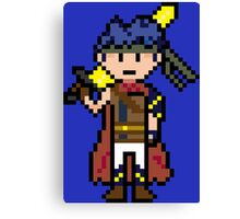 Pixel Hero of the Blue Flame Canvas Print