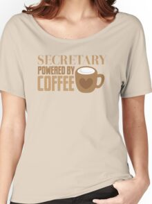 secretary powered by coffee Women's Relaxed Fit T-Shirt