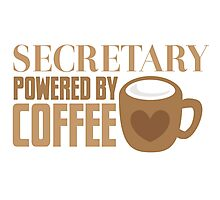 secretary powered by coffee Photographic Print