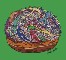 Human Donut Sprinkles 2 Pattern Kids Tee
