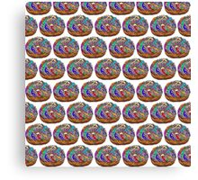 Human Donut Sprinkles 2 Pattern Canvas Print