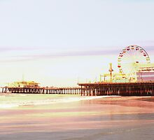 Santa Monica Pier Sunrise by stine1