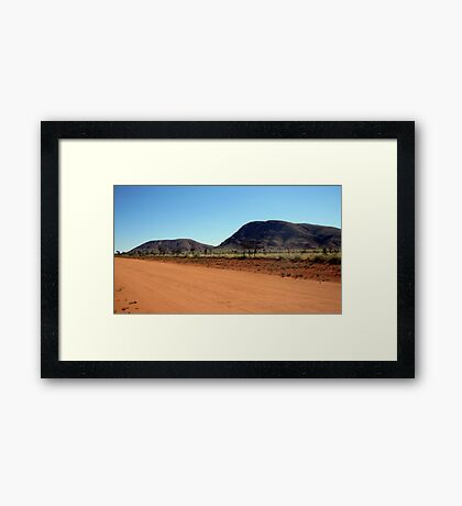 The Outback Way ..Northern Territory Framed Print