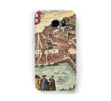 Coimbra Vintage map.Geography Portugal ,city view,building,political,Lithography,historical fashion,geo design,Cartography,Country,Science,history,urban Samsung Galaxy Case/Skin