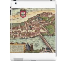 Coimbra Vintage map.Geography Portugal ,city view,building,political,Lithography,historical fashion,geo design,Cartography,Country,Science,history,urban iPad Case/Skin