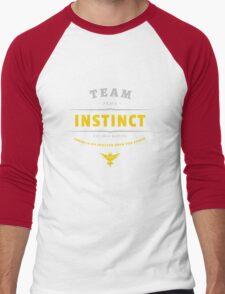 Team Instinct Pokemon Go Vintage Men's Baseball ¾ T-Shirt