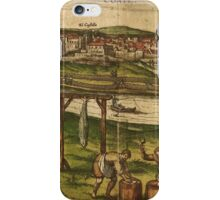Conil Vintage map.Geography Spain ,city view,building,political,Lithography,historical fashion,geo design,Cartography,Country,Science,history,urban iPhone Case/Skin