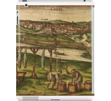 Conil Vintage map.Geography Spain ,city view,building,political,Lithography,historical fashion,geo design,Cartography,Country,Science,history,urban iPad Case/Skin