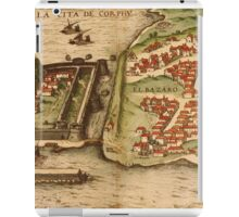Corfu Vintage map.Geography Greece ,city view,building,political,Lithography,historical fashion,geo design,Cartography,Country,Science,history,urban iPad Case/Skin