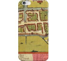 Cork Vintage map.Geography Irland ,city view,building,political,Lithography,historical fashion,geo design,Cartography,Country,Science,history,urban iPhone Case/Skin