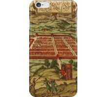 Cusco Vintage map.Geography Peru ,city view,building,political,Lithography,historical fashion,geo design,Cartography,Country,Science,history,urban iPhone Case/Skin