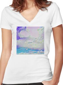 Cloudy Night Women's Fitted V-Neck T-Shirt