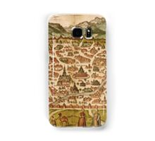 Damascus Vintage map.Geography Syria  ,city view,building,political,Lithography,historical fashion,geo design,Cartography,Country,Science,history,urban Samsung Galaxy Case/Skin
