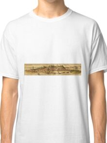 Diu Vintage map.Geography India ,city view,building,political,Lithography,historical fashion,geo design,Cartography,Country,Science,history,urban Classic T-Shirt