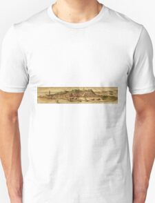 Diu Vintage map.Geography India ,city view,building,political,Lithography,historical fashion,geo design,Cartography,Country,Science,history,urban Unisex T-Shirt