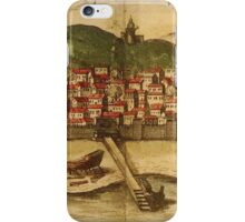 Diu Vintage map.Geography India ,city view,building,political,Lithography,historical fashion,geo design,Cartography,Country,Science,history,urban iPhone Case/Skin