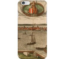 Dordrecht Vintage map.Geography Netherlands ,city view,building,political,Lithography,historical fashion,geo design,Cartography,Country,Science,history,urban iPhone Case/Skin