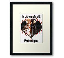 SAO Couples Design 2 Framed Print