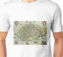 Dordrecht(2) Vintage map.Geography Netherlands ,city view,building,political,Lithography,historical fashion,geo design,Cartography,Country,Science,history,urban Unisex T-Shirt