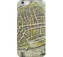 Dordrecht(2) Vintage map.Geography Netherlands ,city view,building,political,Lithography,historical fashion,geo design,Cartography,Country,Science,history,urban iPhone Case/Skin