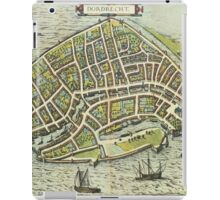 Dordrecht(2) Vintage map.Geography Netherlands ,city view,building,political,Lithography,historical fashion,geo design,Cartography,Country,Science,history,urban iPad Case/Skin