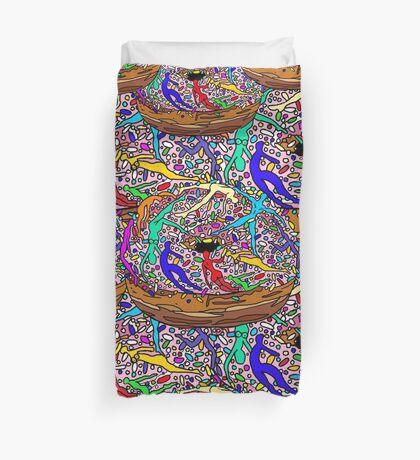 Human Donut Sprinkles Pattern Duvet Cover