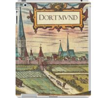 Dortmund Vintage map.Geography Germany ,city view,building,political,Lithography,historical fashion,geo design,Cartography,Country,Science,history,urban iPad Case/Skin