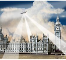 UFO Over London 2 Photographic Print