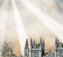 UFO Over London 2 Sticker