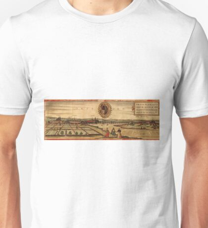 Dresden Vintage map.Geography Germany ,city view,building,political,Lithography,historical fashion,geo design,Cartography,Country,Science,history,urban Unisex T-Shirt
