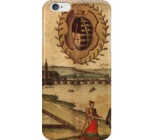 Dresden Vintage map.Geography Germany ,city view,building,political,Lithography,historical fashion,geo design,Cartography,Country,Science,history,urban iPhone Case/Skin