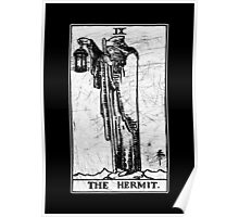 The Hermit Tarot Card - Major Arcana - fortune telling - occult Poster