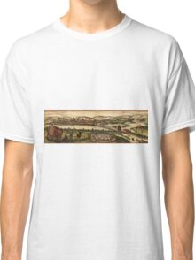 Ecija Vintage map.Geography Spain ,city view,building,political,Lithography,historical fashion,geo design,Cartography,Country,Science,history,urban Classic T-Shirt