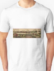 Ecija Vintage map.Geography Spain ,city view,building,political,Lithography,historical fashion,geo design,Cartography,Country,Science,history,urban Unisex T-Shirt