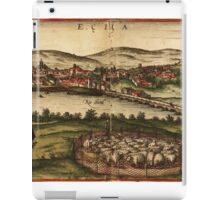 Ecija Vintage map.Geography Spain ,city view,building,political,Lithography,historical fashion,geo design,Cartography,Country,Science,history,urban iPad Case/Skin
