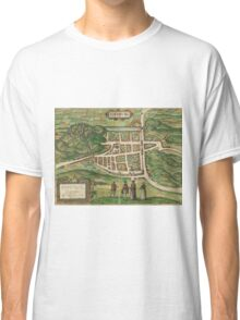 Edinburgh Vintage map.Geography Great Britain ,city view,building,political,Lithography,historical fashion,geo design,Cartography,Country,Science,history,urban Classic T-Shirt