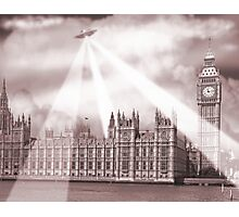 UFO Over London (Sepia) 2 Photographic Print