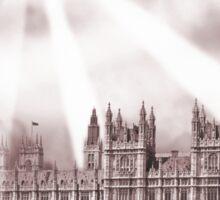UFO Over London (Sepia) 2 Sticker