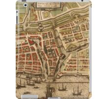 Emden Vintage map.Geography Germany ,city view,building,political,Lithography,historical fashion,geo design,Cartography,Country,Science,history,urban iPad Case/Skin