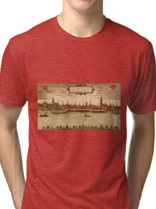 Emmerich Vintage map.Geography Germany ,city view,building,political,Lithography,historical fashion,geo design,Cartography,Country,Science,history,urban Tri-blend T-Shirt