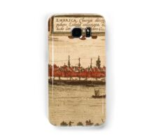 Emmerich Vintage map.Geography Germany ,city view,building,political,Lithography,historical fashion,geo design,Cartography,Country,Science,history,urban Samsung Galaxy Case/Skin