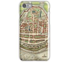 Enkhusen Vintage map.Geography Netherlands ,city view,building,political,Lithography,historical fashion,geo design,Cartography,Country,Science,history,urban iPhone Case/Skin