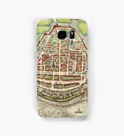 Enkhusen Vintage map.Geography Netherlands ,city view,building,political,Lithography,historical fashion,geo design,Cartography,Country,Science,history,urban Samsung Galaxy Case/Skin