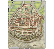Enkhusen Vintage map.Geography Netherlands ,city view,building,political,Lithography,historical fashion,geo design,Cartography,Country,Science,history,urban iPad Case/Skin